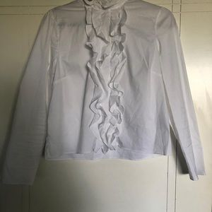 White Cropped School Girl Blouse